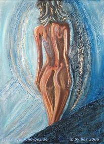 Weiblich, Blau, Akt, Figural