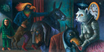 Bedrohlich, Frau, Toleranz, Tiere