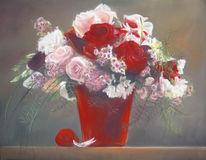 Blumen, Stillleben, Rot, Rose