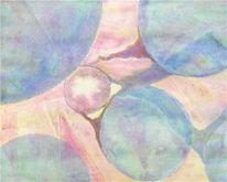 Pigmente, Abstrakt, Hell, Aquarellmalerei