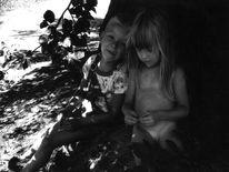 Zuneigung, Außen, Fotografie, Kinder