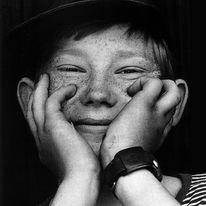 Fotografie, Junge, Portrait, Sommersprossen