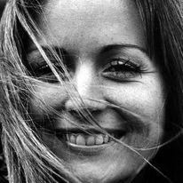 Portrait, Junge, Frau, Lachen