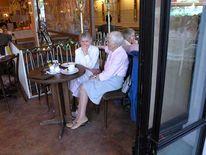 Alter, Kaffeeklatsch, Cafe, Frau