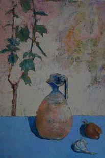 Realismus, Stillleben mitt cup, Ölmalerei, Figural