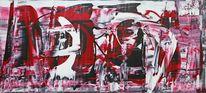 Gemälde, Umwelt, Menschen, Abstrakt