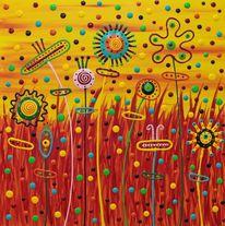 Gemälde, Abstrakt, Welt, Menschen