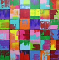 Bunt, Abstrakt, Gemälde, Malerei