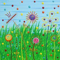 Acrylmalerei, Gemälde, Blumen, Malerei