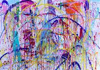 Malerei, Menschen, Bunt, Globus
