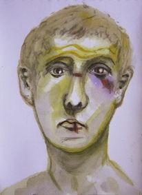 Vertrauen, Portrait, Veilchen, Autsch