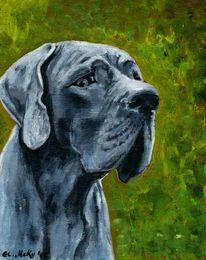 Berlin, Acrylmalerei, Hund, Tiere