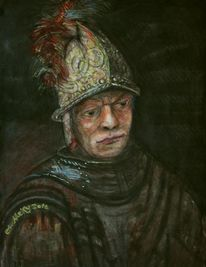 Tod, Helm, Aquarellmalerei, Alt