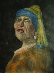 Portrait, Alt, Gemälde, Vermeer