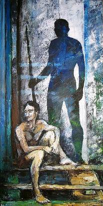 Grün, Mann, Blau, Figural