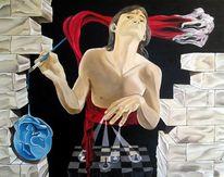 Wand, Licht, Schach, Surreal