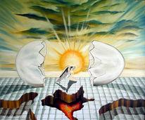 Sonne, Engel, Surreal, Vulkan