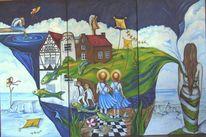 Himmel, Wasser, Kinder, Malerei