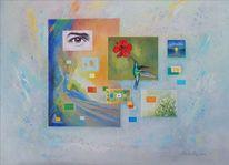 Acrylmalerei, Zeitgenössisch, Symbolismus, Surrealistisch