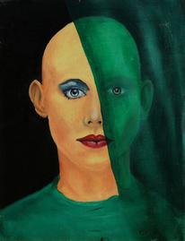 Surreal, Portrait, Menschen, Frau