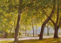 Baum, Park, Malerei