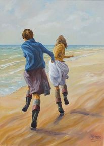 Strand, Menschen, Meer, Bewegung