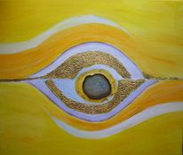 Malerei, Augen, Achat, Gelb