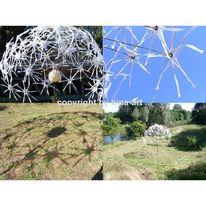 Installation, Rur, Skulpturenweg, Pusteblumen