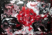 Acrylmalerei, Action painting, Abstrakt, Malerei