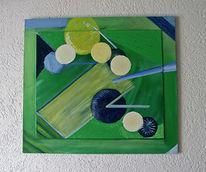 Blau, Gelb, Grün, Abstrakt