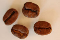 Kaffee, Kaffeebohnen, Nahaufnahme, Fotografie