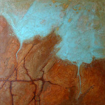 Abstrakte malerei, Mischtechnik, Acrylfarben, Fantasie