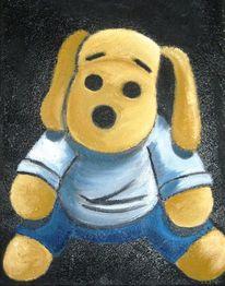 Hund stofftier, Malerei