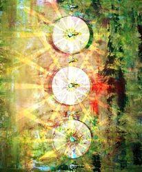 Gelb, Bunt, Grün, Licht