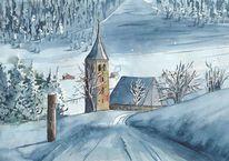 Vella, Tusche, Graubünden, Malerei