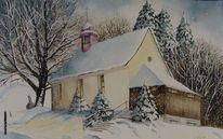 Winter, Gottesdienst, Baum, Licht
