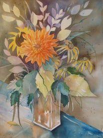 Aquarellmalerei, Blumen, Malters, Luzern
