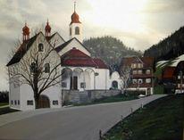März, Acrylmalerei, Kirche, Malerei