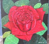 Stillleben, Malerei, Rose