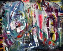Abstrakt, Bunt, Malerei, Unbewusst