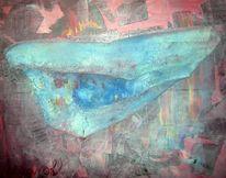 Malerei, Abstrakt, Augen