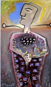 Vereinfachen, Menschen, Expressionismus, Malerei