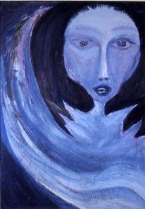 Alt, Malerei, Gefallen, Engel