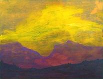 Abstrakt, Malerei, Landschaft