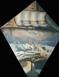 Sakowitz, Caspar david friedrich, Gemälde, Multireal