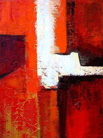 Weiß, Abstrakt, Abschied, Malerei