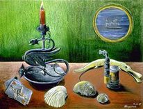 Muschel, Stillleben, Seelandschaft, Schiff