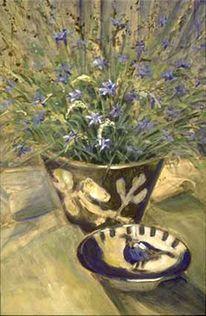 Kornblumen, Realismus, Caparol, Blumen
