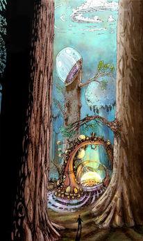 Allein, Surreal, Wald, Zauber
