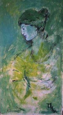Malerei, Moorlady, Figural, Vogelsand